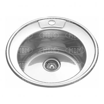 мойка врезная SINKLIGHT N 490 ECO 0.6/160 1Р (*15)  (АНАЛОГ 017 N)